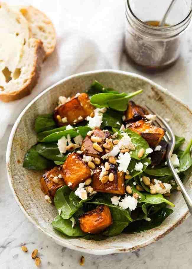 Photo of Roast Pumpkin, Spinach and Feta Salad