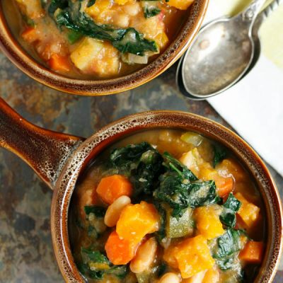 Butternut Squash White Bean Kale Stew